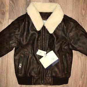 GAP faux leather bomber jacket